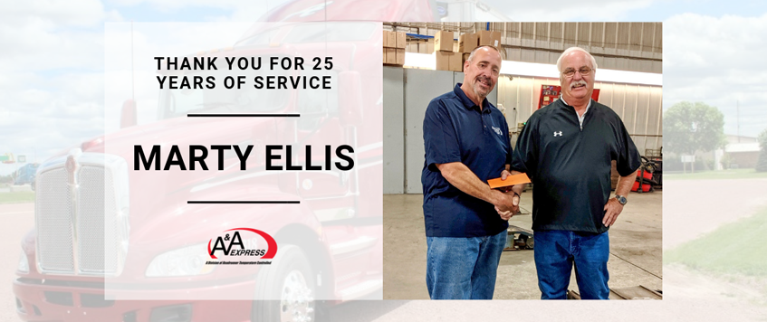 Marty Ellis Celebrates 25 Years At A&A Express